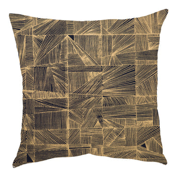 Geo Gold on Navy Scatter Cushion - KNUS