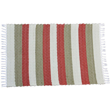 Dhurrie Twill Namib Red Stripe Bath Mat