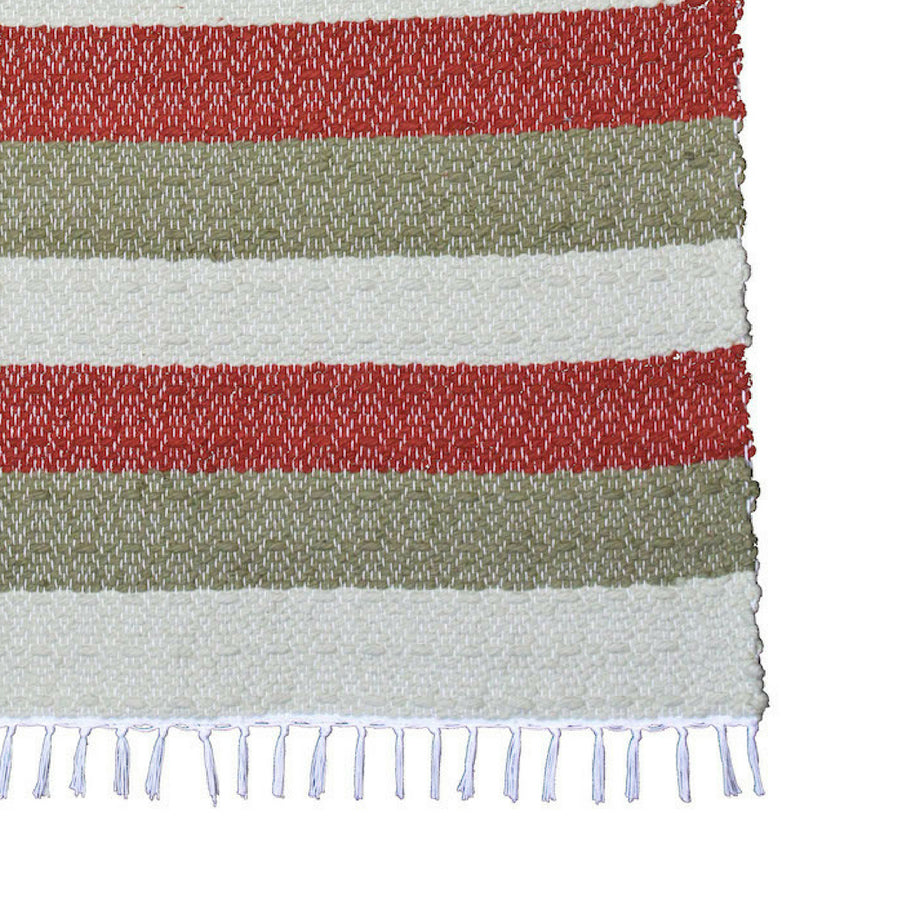 Dhurrie Twill Namib Red Stripe Rug