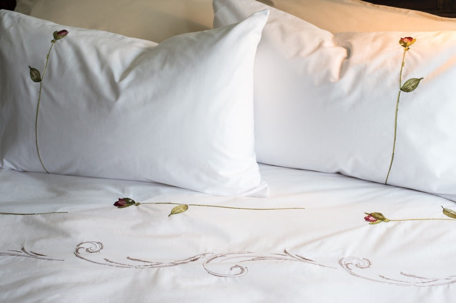 Antique Rose Duvet Cover Set