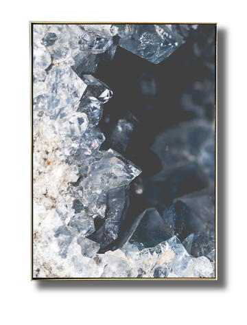 Black Crystal Earth Art Print