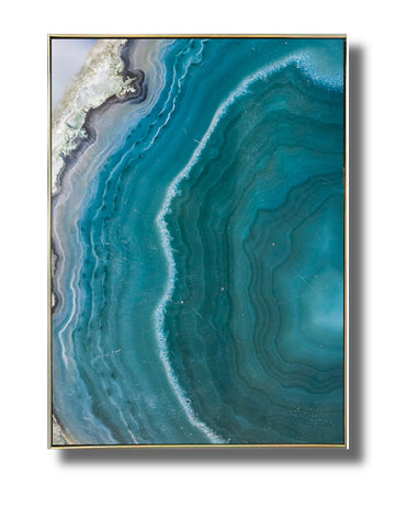 Blue Vertical Agate Art Print