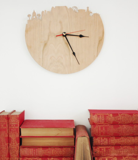 Cape Town Silhouette Wooden Wall Clock