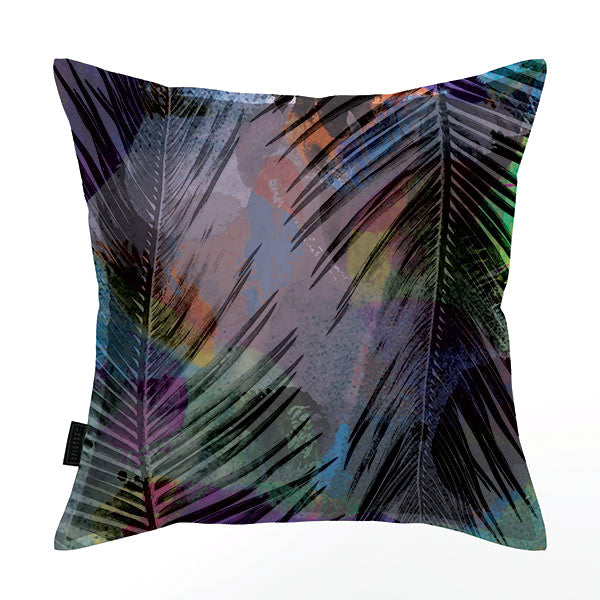 Cycad Frond Colour Scatter Cushion DBL sided print