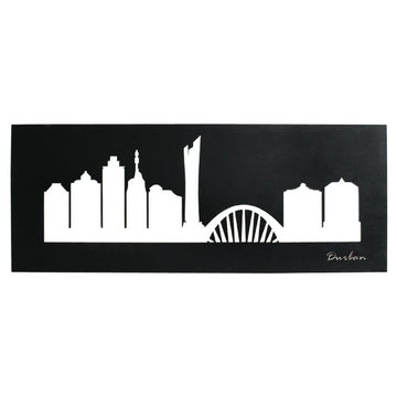 Durban Skyline Black Wall Art - KNUS