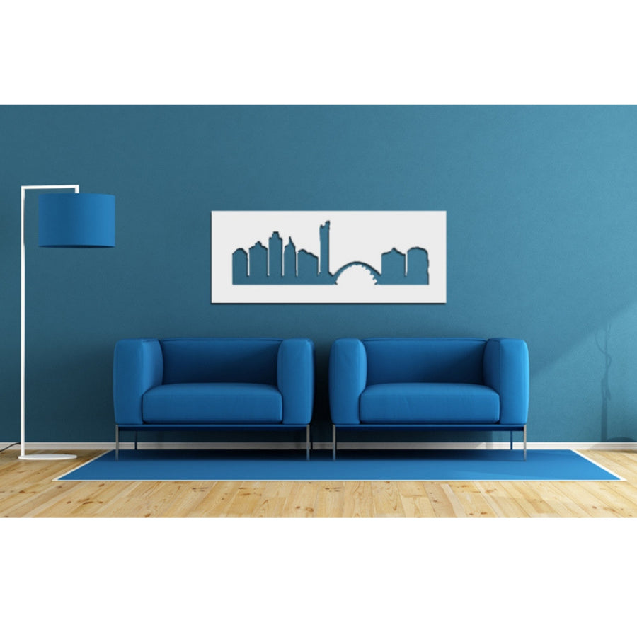 Durban Skyline White Wall Art - KNUS