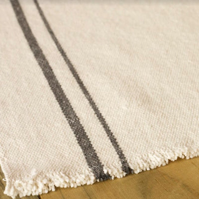French Country Table Runner Charcoal - KNUS
