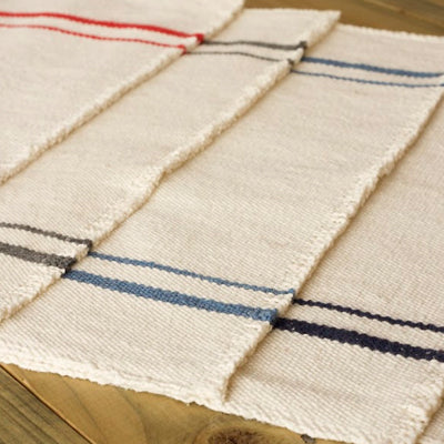 French Country Table Runner Navy