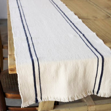 French Country Table Runner Navy - KNUS