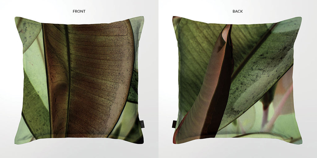 Ficus Foliage 02 Scatter Cushion DBL sided print