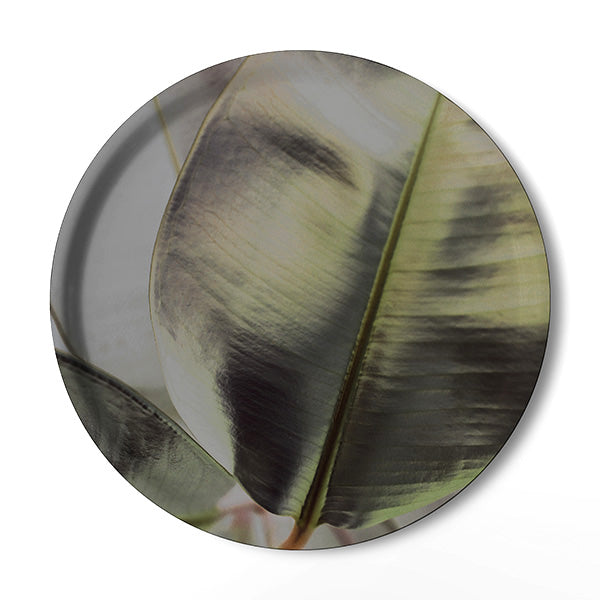 Ficus Foliage Serving Tray - KNUS