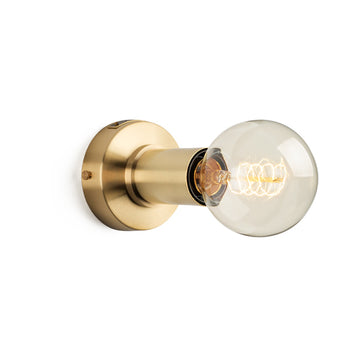 Simple Sconce Brass & Colour Range - KNUS