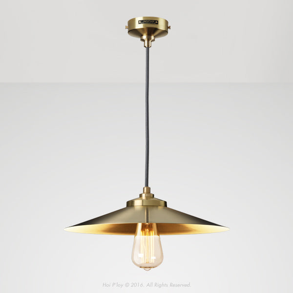 Empire Pendant Exposed Shade Gold