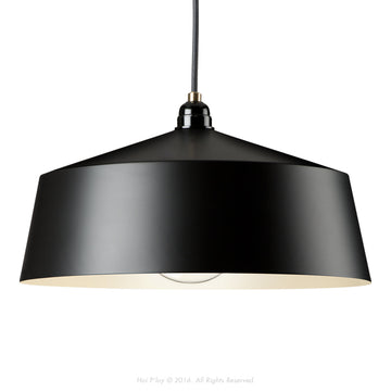 Tall Shade Black Empire Pendant - KNUS