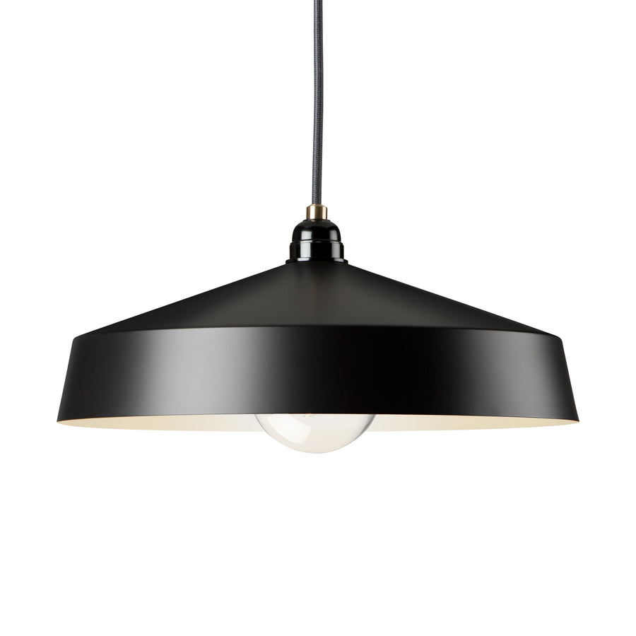 Medium Shade Black Empire Pendant - KNUS