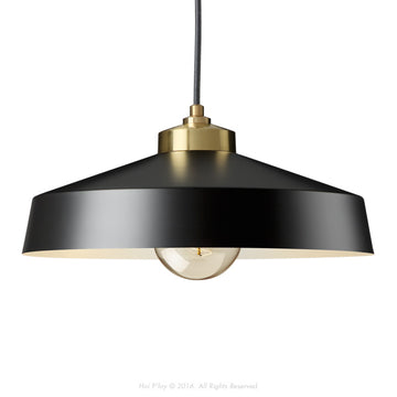 Medium Shade Black & Gold Empire Pendant - KNUS