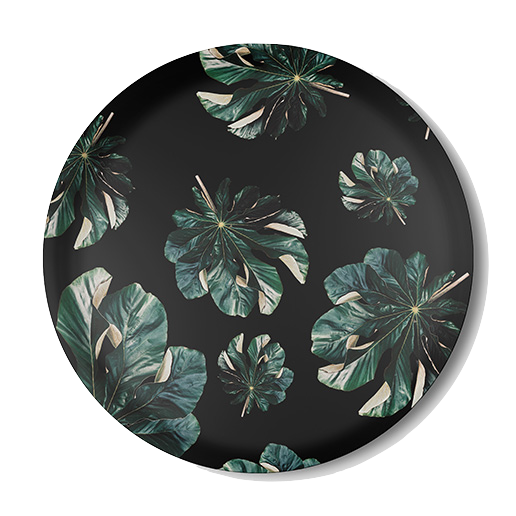 Jungle Cecropia (black) Serving Tray
