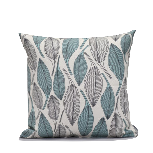 Leaves Blue Scatter Cushion - KNUS