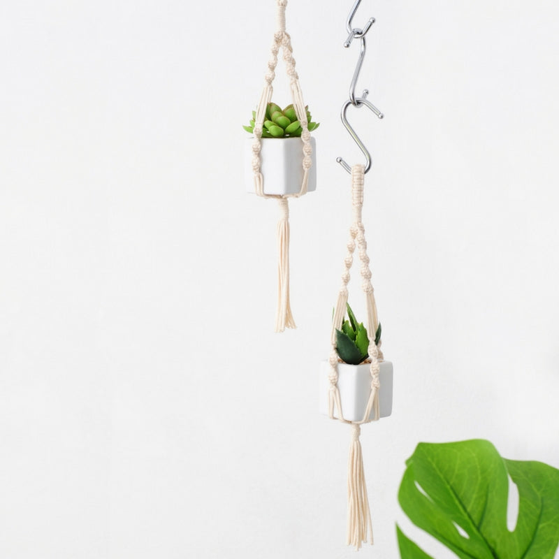 Macrame Mini Plant Hanger Twister Cotton