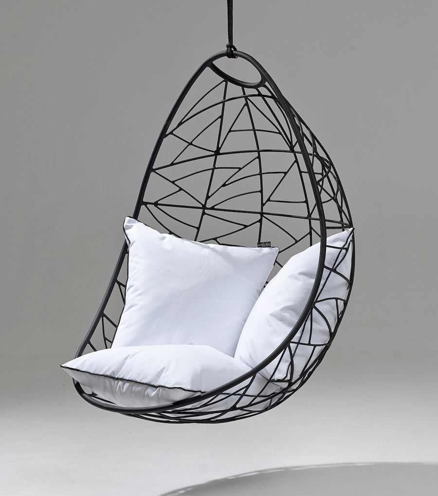 Nest Egg Hanging Swing Chair - Twig Pattern