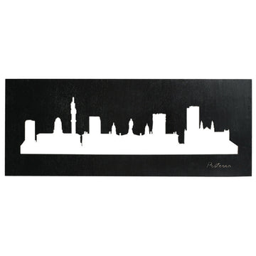 Pretoria Skyline Black Wall Art - KNUS