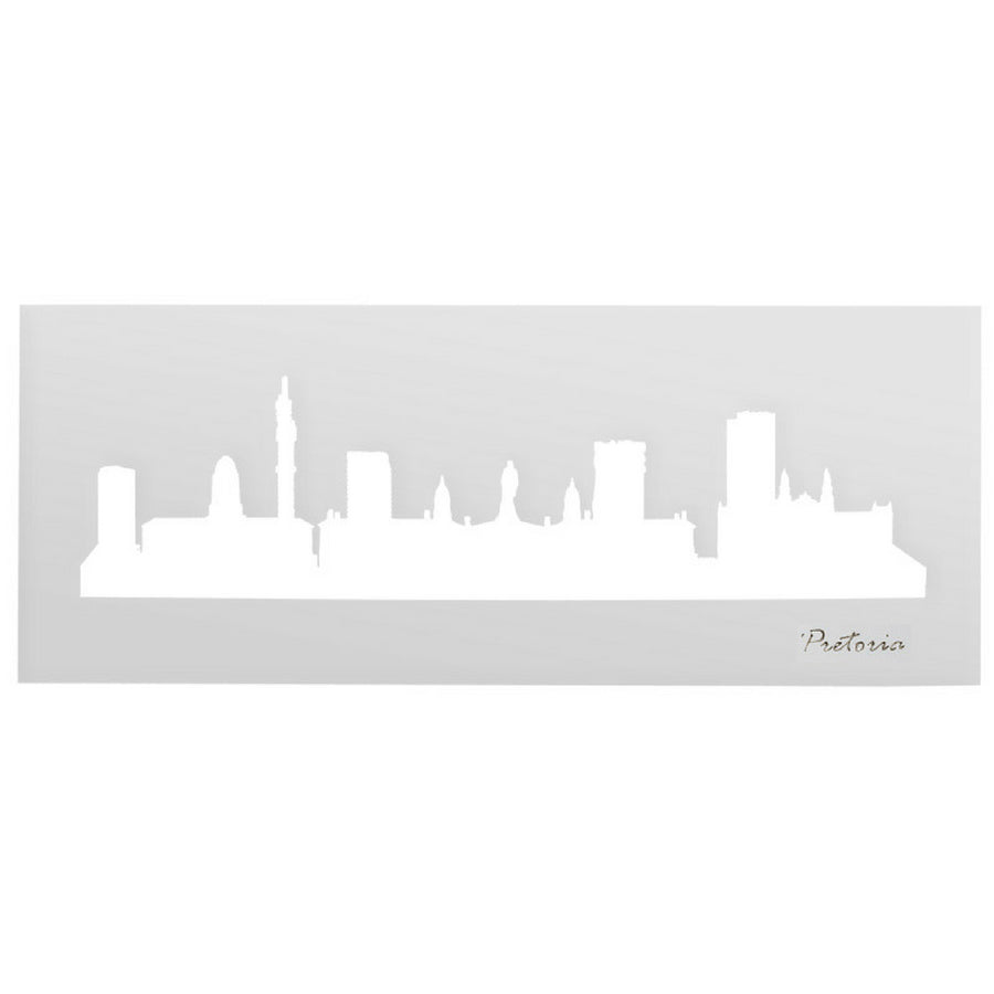 Pretoria Skyline White Wall Art - KNUS