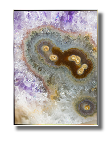 Purple Nucleas Agate Art Print
