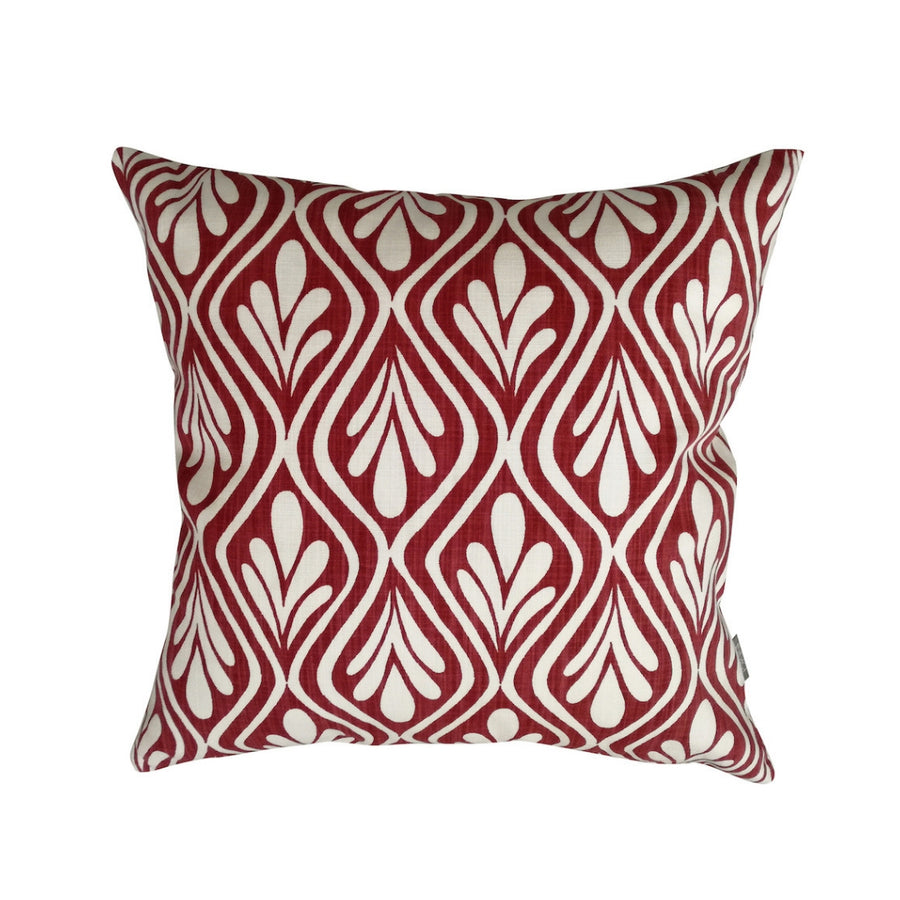 Red Henna Leaves Scatter Cushion - KNUS