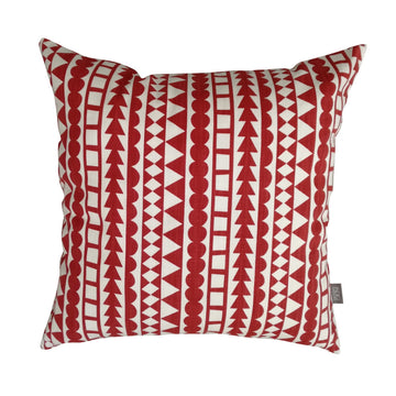 Red Tribal Stripe Scatter Cushion - KNUS
