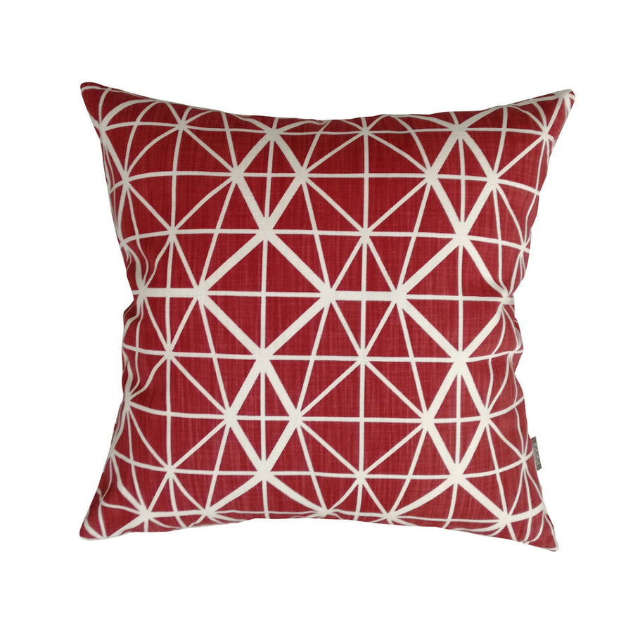 Red Facet Scatter Cushion - KNUS