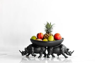 TWO RHINO FRUIT BOWL - KNUS