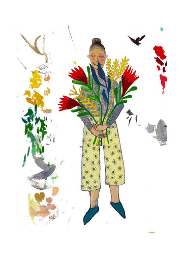 Flower Seller Art Print - KNUS