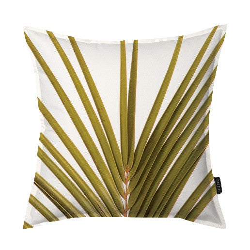 Golden Palm Frond Scatter Cushion