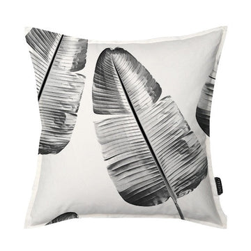 Wild Strelitzia (black & white) Scatter Cushion