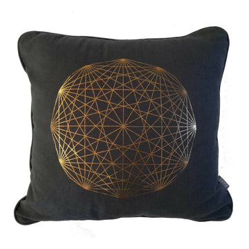 Copper Solitaire on Charcoal Cushion - KNUS