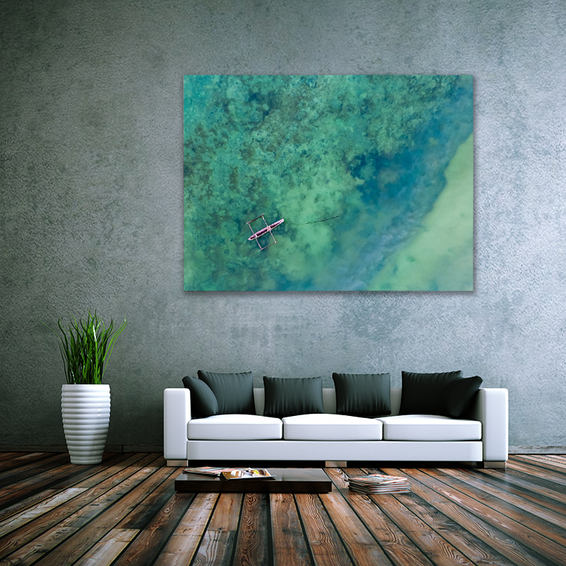The Blue Outrigger Art Print