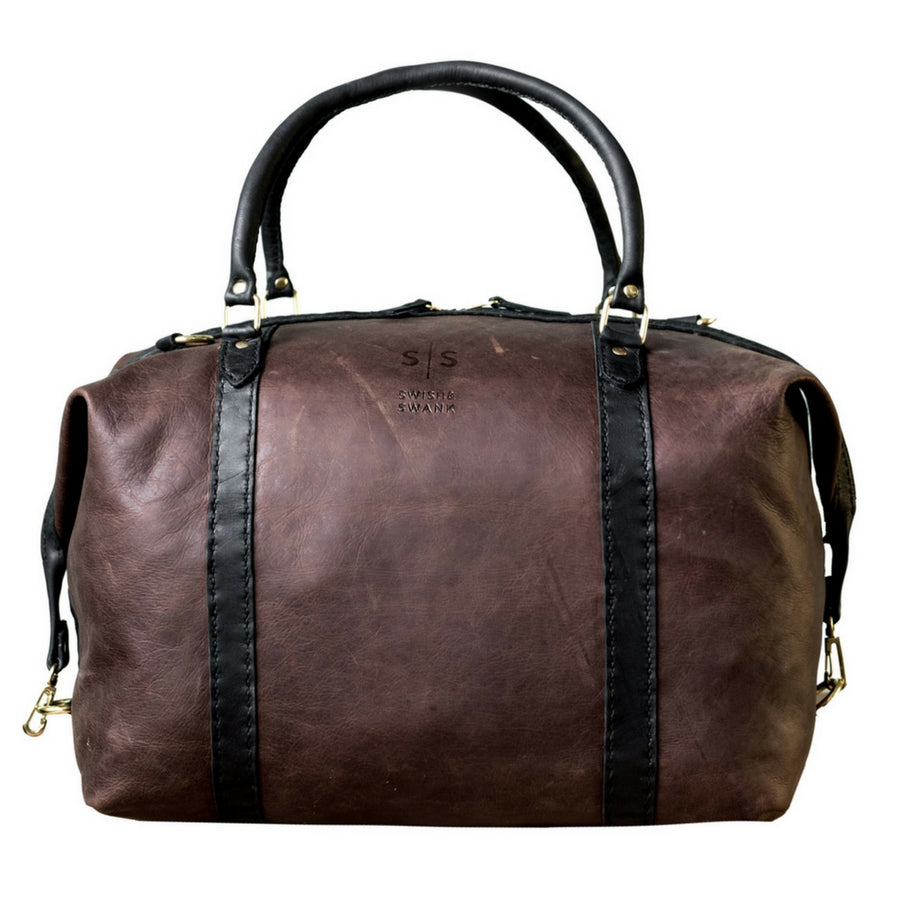 The Hand-stitched Two Tone Duffle Bag - KNUS