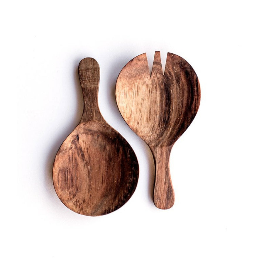 Round Salad Serving Spoon Set