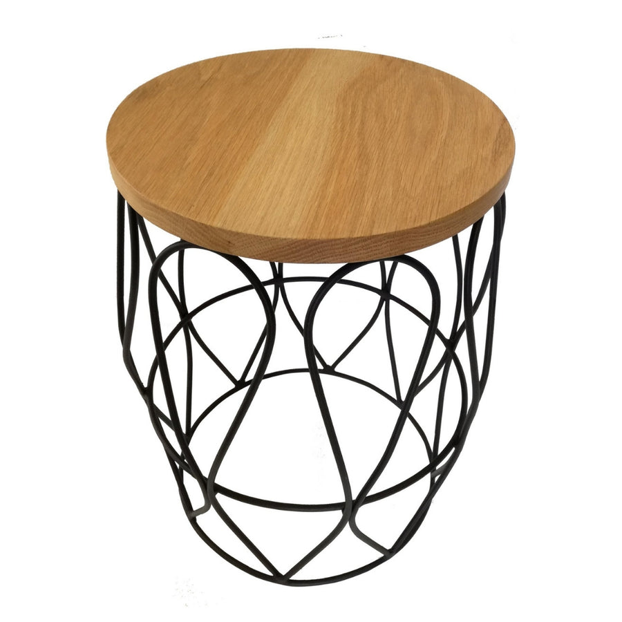 Undulate Side Table Black - KNUS