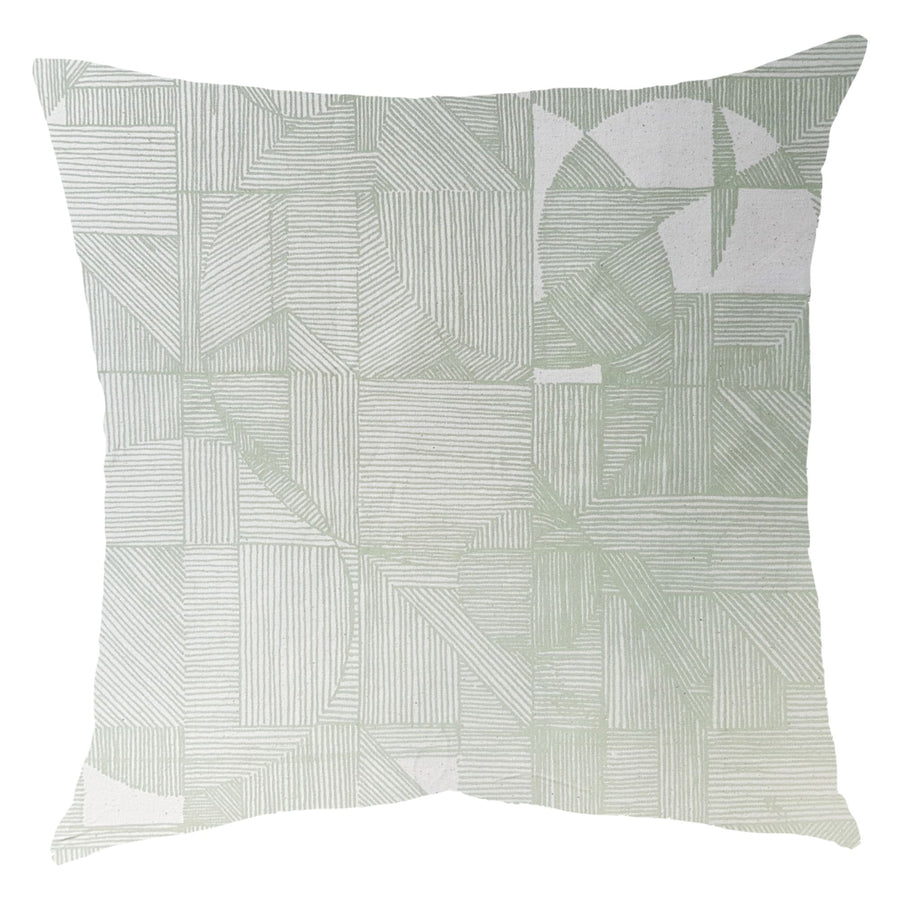 Sage Geo Circle Scatter Cushion - KNUS