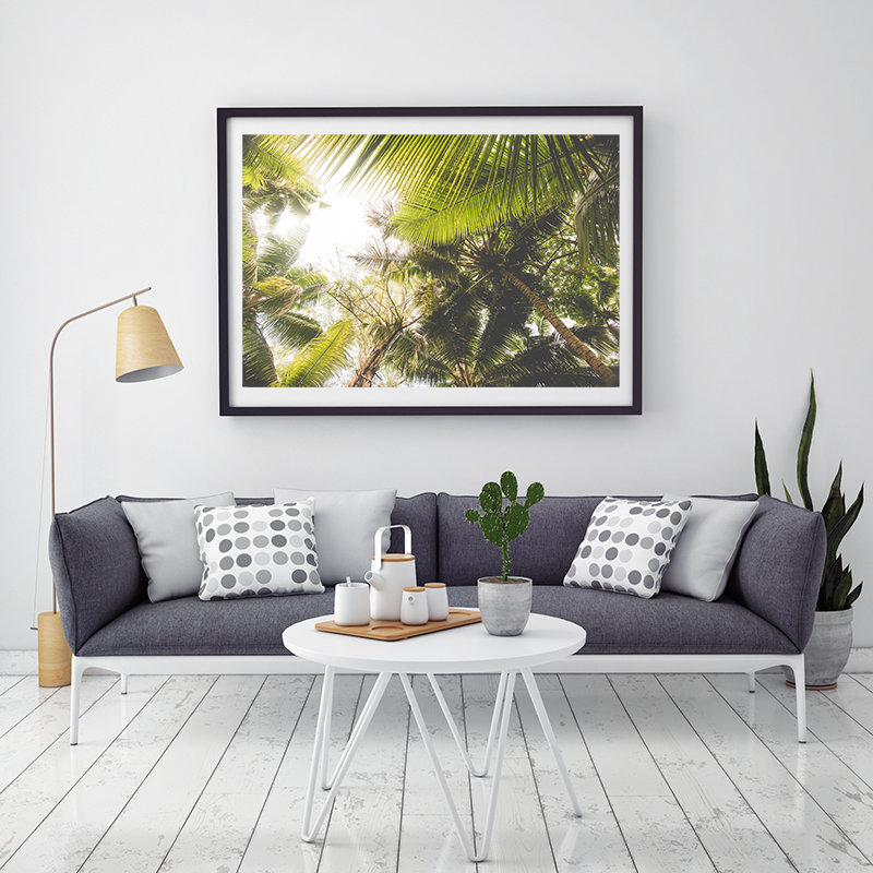 Vintage Palm Leaves Art Print