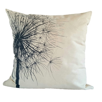 Grey Dandelion Print on Cream