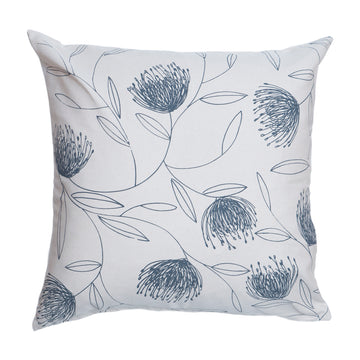 Grey Pincushion Whirl Print on Cream Scatter Cushion - KNUS
