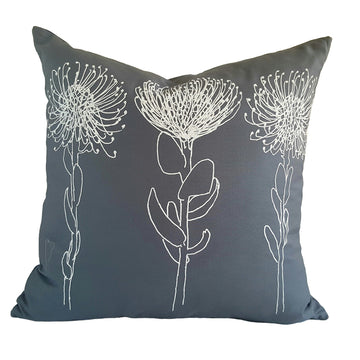 3 Pincushion Print on Grey Scatter Cushion - KNUS