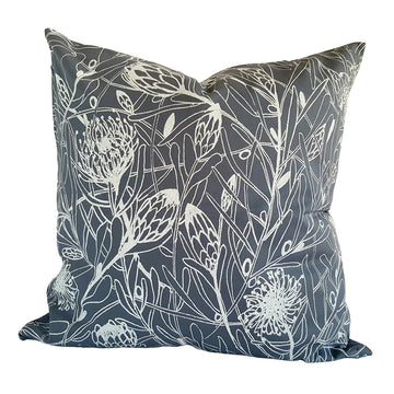 Protea Forest Print on Grey Scatter Cushion - KNUS