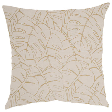 Gold Delicious Monster Print on Cream Scatter Cushion - KNUS