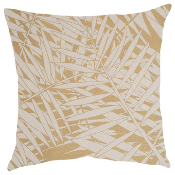 Gold Fern Forest Print on Cream Scatter Cushion - KNUS