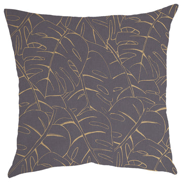 Gold Delicious Print on Grey Scatter Cushion - KNUS