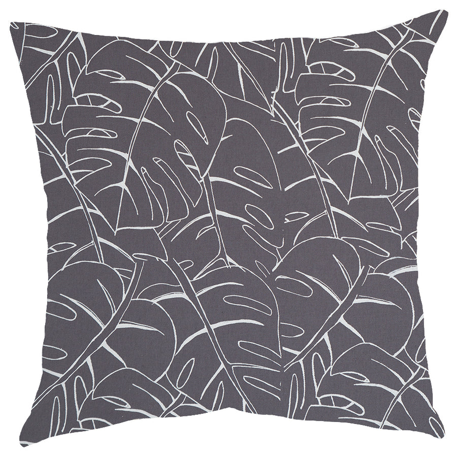 White Delicious Monster Print on Grey Scatter Cushion - KNUS