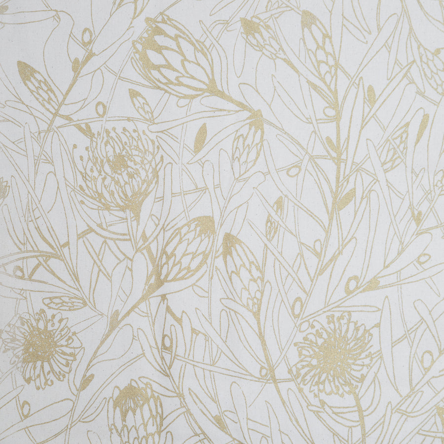 Gold Protea Forest on Cream Table Runner - KNUS